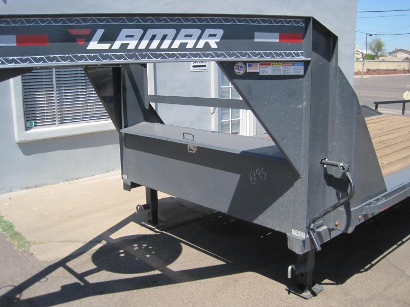 "2019 Lamar Trailers 102"" wide x 22 long drive over fenders gooseneck Flatbed Trailer"