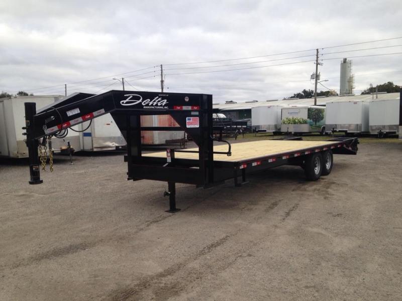 2019 102x25 7 ton Goose Neck Equipment Trailer