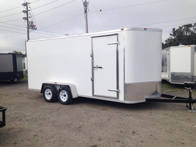 2019 AMP Trailers 7x16 Tandem Axle Cargo Enclosed Cargo Trailer