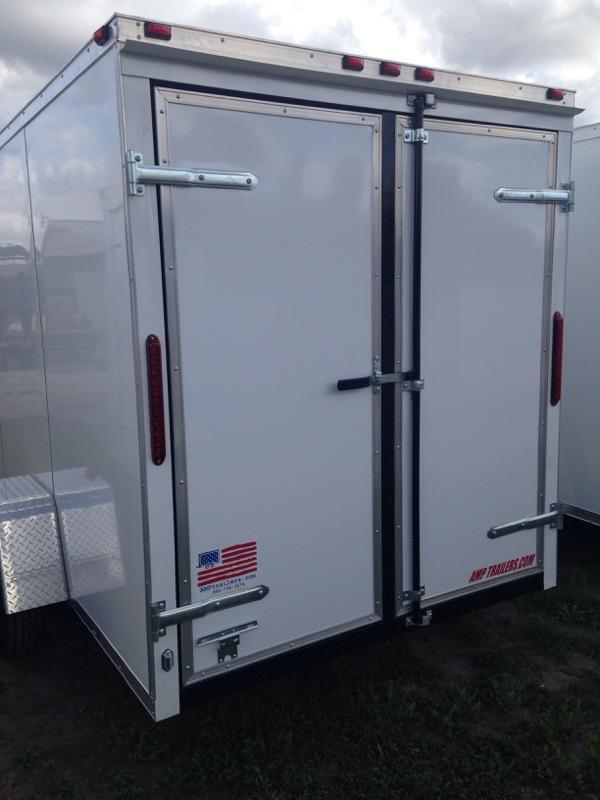 2019 AMP Trailers SINGLE AXLE 6X12 CARGO W/ DOUBLE REAR DOORS Enclosed Cargo Trailer