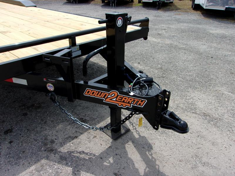 """2019 Down 2 Earth Trailers 24'x102"""" DRIVE OVER Equipment Trailer"""