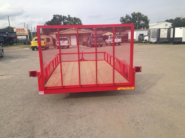 2019 AMP 76x12 Utility Trailer **RED**