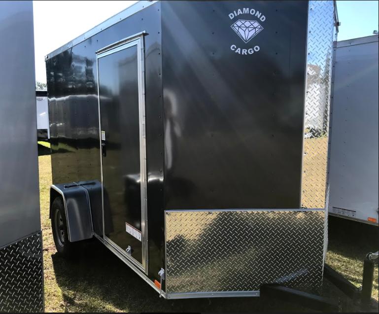 2018 Diamond Cargo 6x10SA Enclosed Cargo Trailer