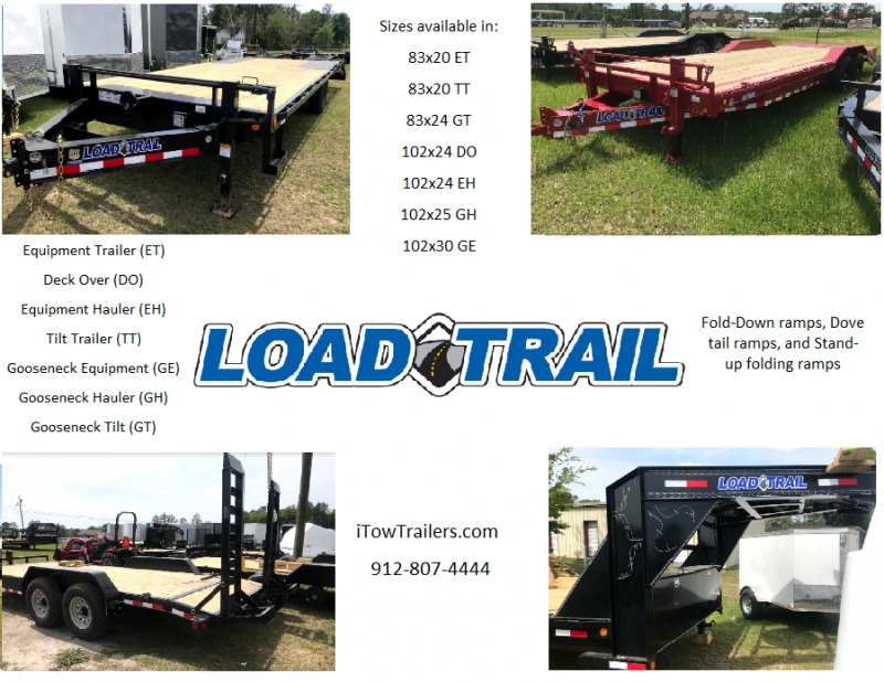 2018 Load Trail 81x24 Gooseneck Tilt Trailer