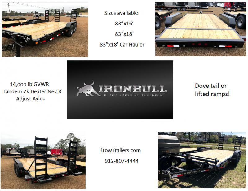 """2018 Iron Bull 83""""x18' Equipment Trailer"""