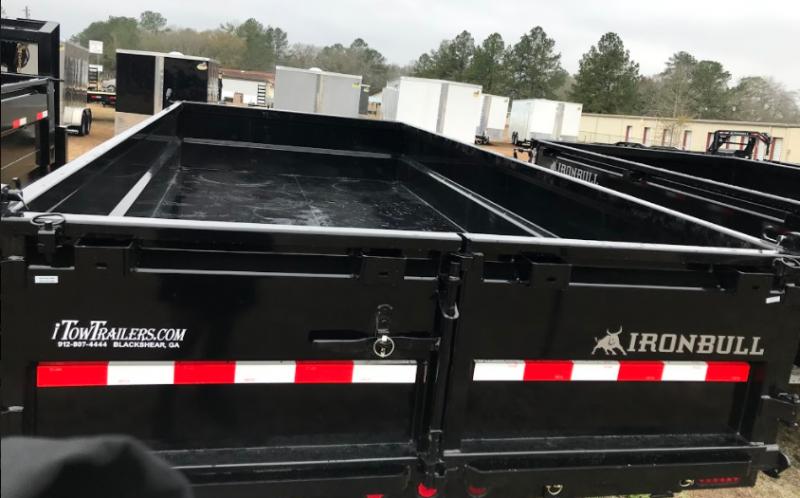 "2018 Iron Bull 83""x16' Gooseneck Dump Trailer Dump Trailer"