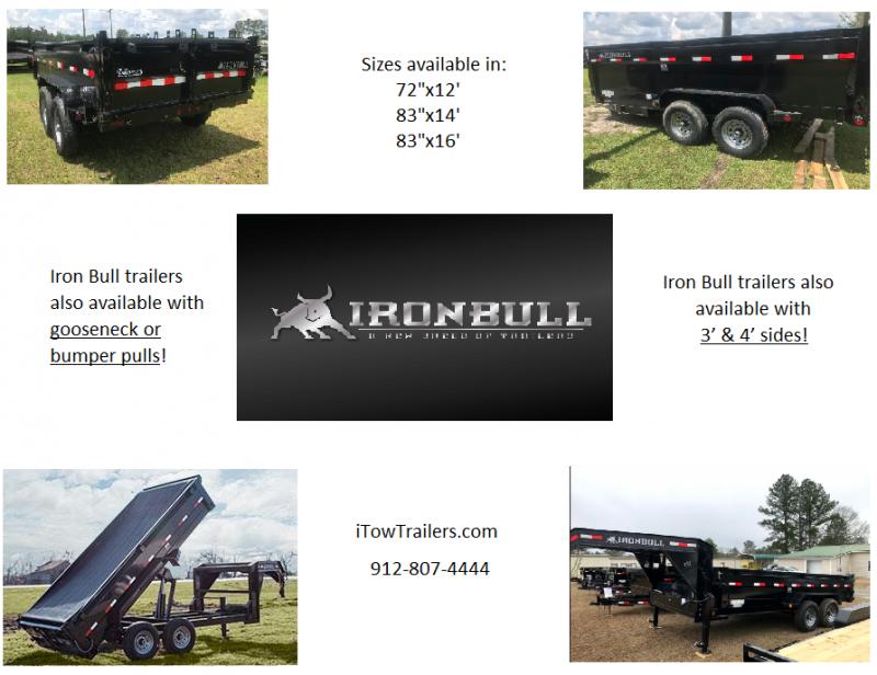 "2018 Iron Bull 83""x16' Dump Trailer"