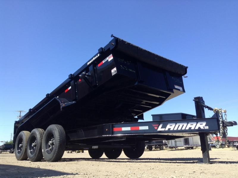 2017 Lamar Triple Axle Torsion Dump Trailer