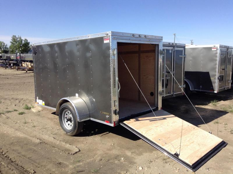 2018 5' x 10' Ramp Door Continental Cargo V-Hauler Enclosed Trailer