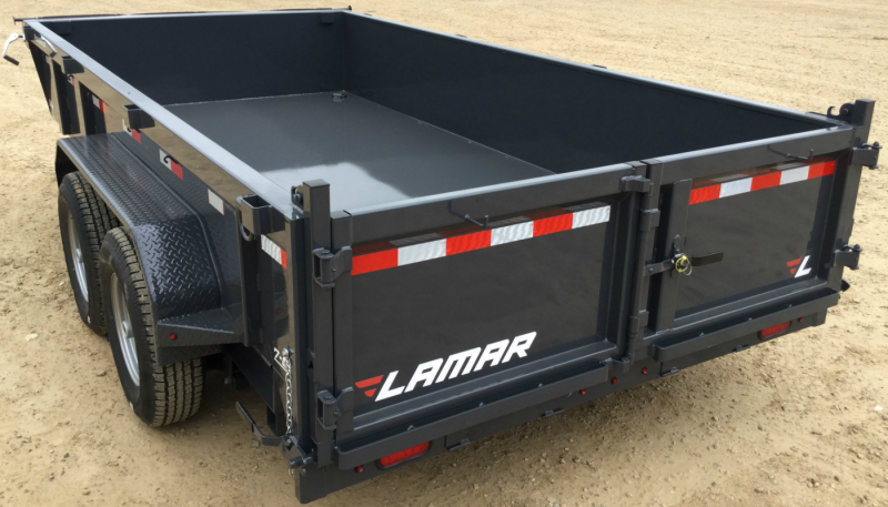 2019 Lamar Dump Trailer w/ 7 Gauge Floor