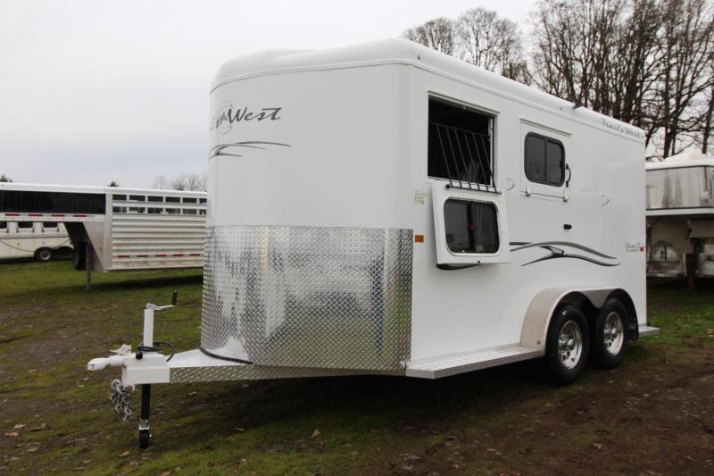 2019 Trails West Classic II Warmblood 2 Horse Trailer Aluminum Skin Steel Frame