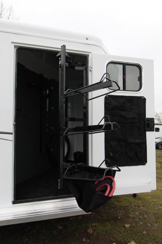 2019 Trails West Classic II Warmblood 2 Horse Trailer Aluminum Skin Steel Frame