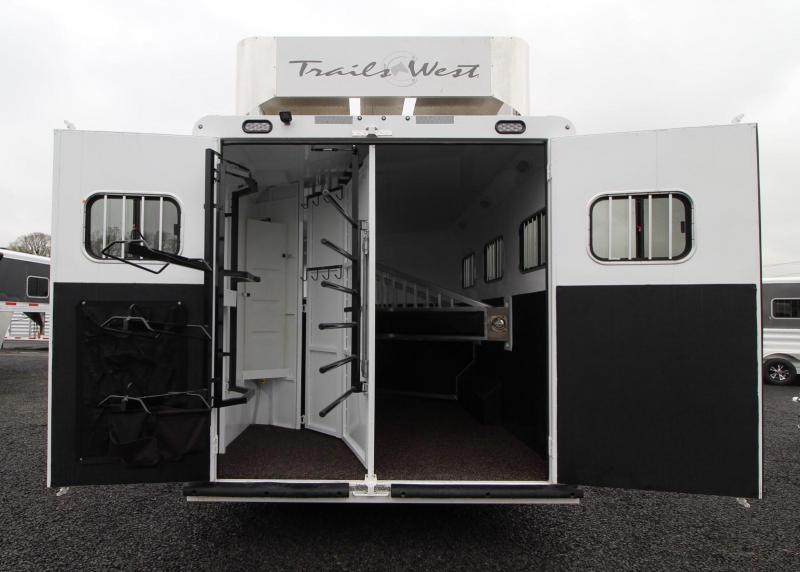 2019 Trails West Sierra 11x15 Living Quarters w/ Slide out 3 Horse Trailer