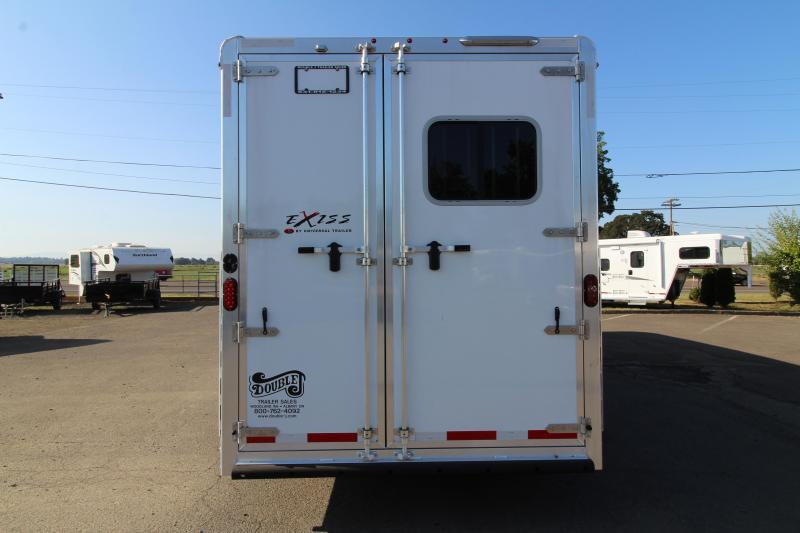 2020 Exiss 7306  - 3 Horse Trailer - 6' Short Wall LQ - Upgraded Interior - Easy Care Flooring - All Aluminum