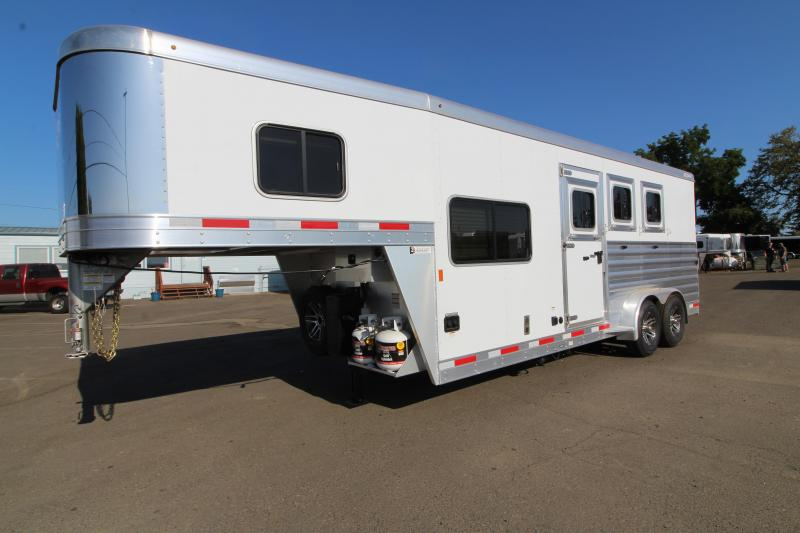2020 Exiss 7306  - 3 Horse Trailer - 6' Short Wall LQ - Upgraded Interior - Easy Care Flooring - All Aluminum