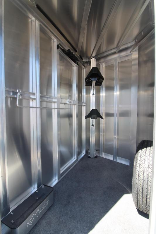 2018 Exiss Express XT - Polylast Flooring - 2 Horse Trailer Extruded Aluminum Black Side Sheets