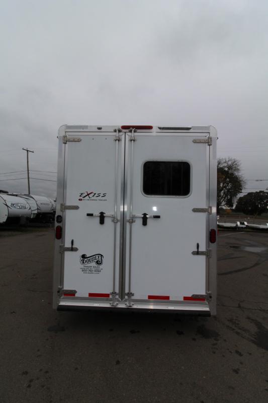 2019 Exiss Escape 7308 3 Horse 8' SW LQ Trailer - All Aluminum - Power Awning - Dinette - Easy Care Flooring