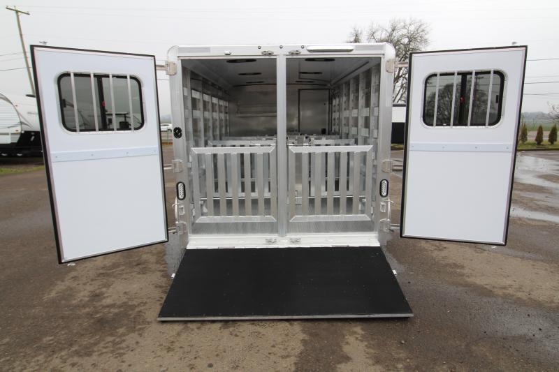"2019 Exiss 716A - Livestock Combo Trailer - Pen System - Rear Ramp - 16' Long 6'2"" Tall"