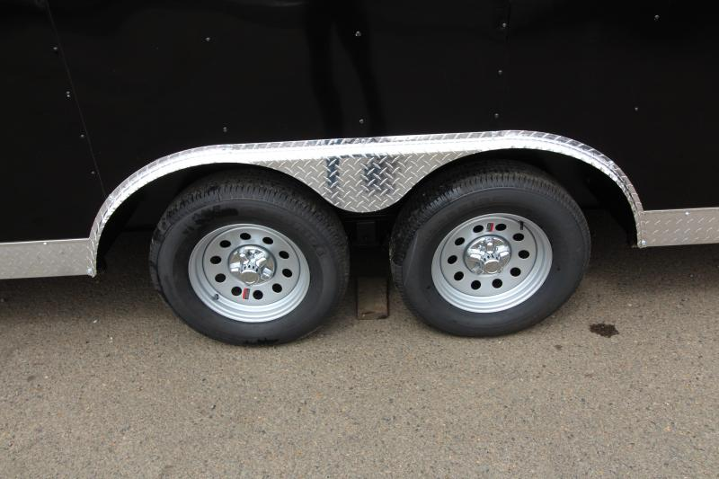 2019 Mirage  Xcel 8.5 x 20 Enclosed Car Hauler Trailer - Domed roof- Radius front - Spare Tire - Side Vents - Black Exterior Color  - Tandem axle