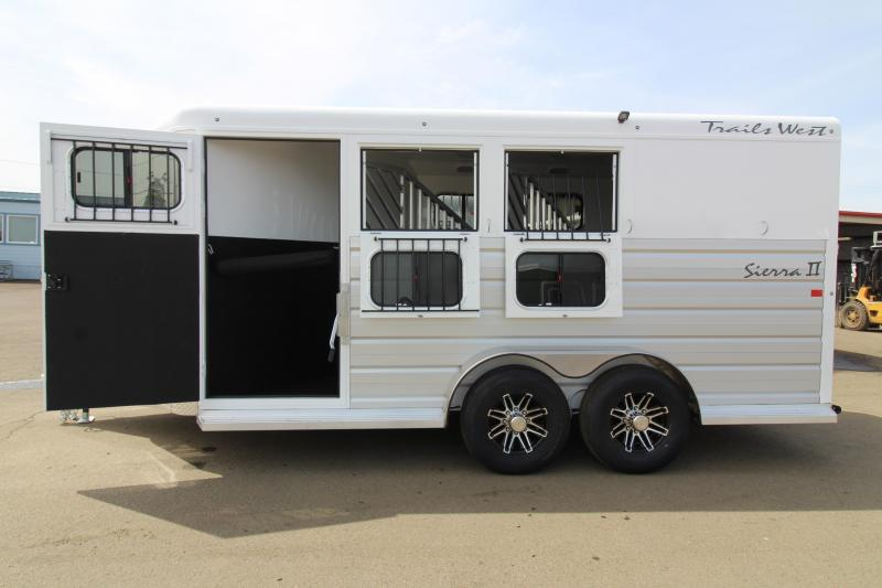 2019 Trails West Sierra 3 Horse Trailer - Steel Frame with Aluminum Skin - Escape Door - Extruded Aluminum Siding - Swing Out Saddle Rack