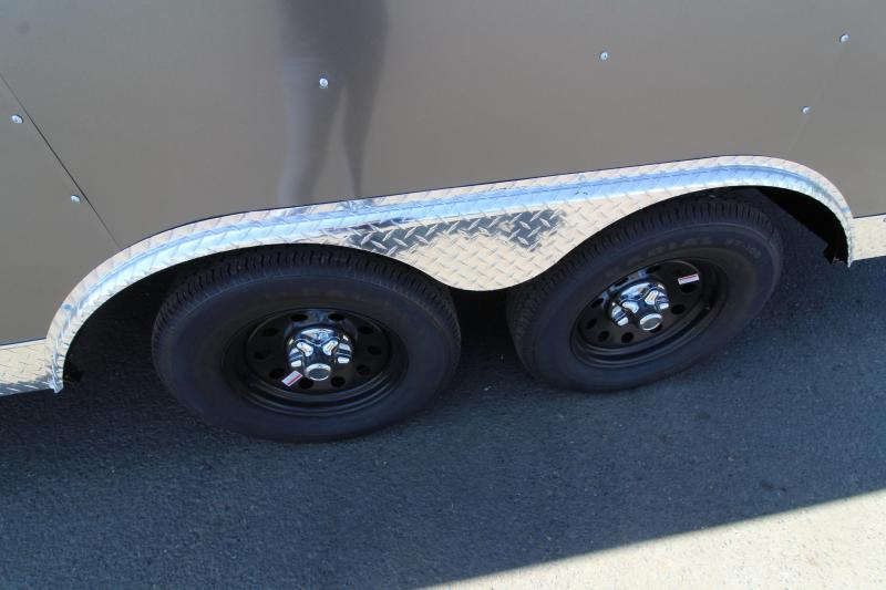 2020 Mirage Xpres 8.5x20 Car / Racing Trailer - V nose - Flat roof - Side by side package - Charcoal exterior skin