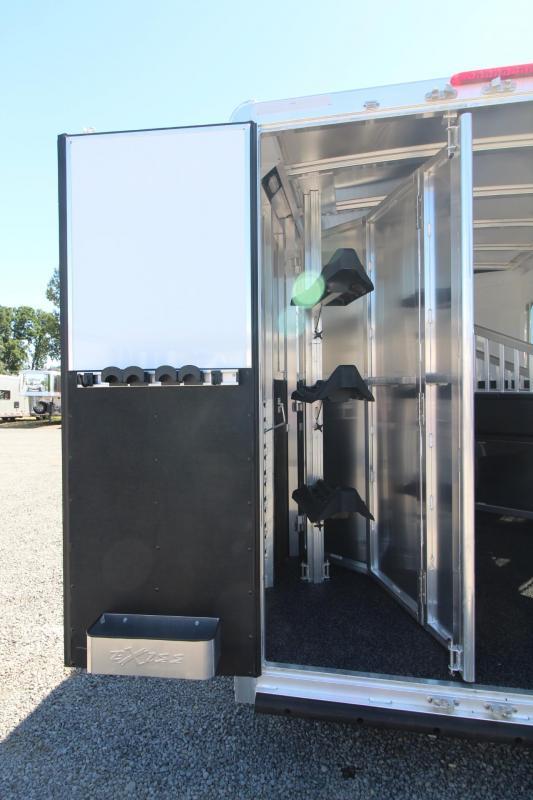 2018 Exiss Escape 7310 w/ Slide 10' SW Living Quarters 3 Horse Trailer