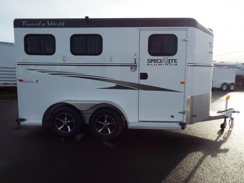 2017 Trails West Sierra 2 Horse Trailer - SpeciALite Aluminum Skin w/ Convenience Pkg - 7 ft Tall