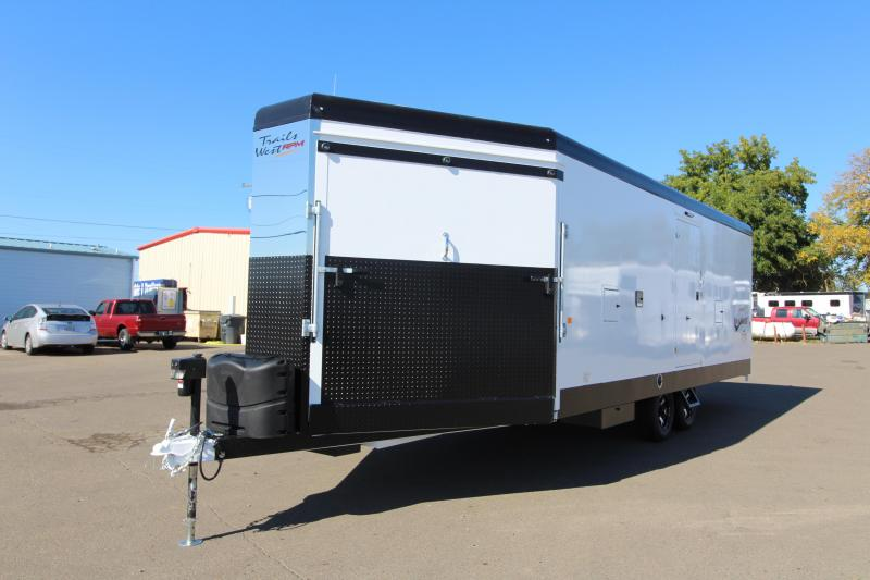 2019 Trails West  RPM 28' Bumper Pull Snowmobile Trailer - 30 Gallon Fuel Cell w/ Pump - Car Option