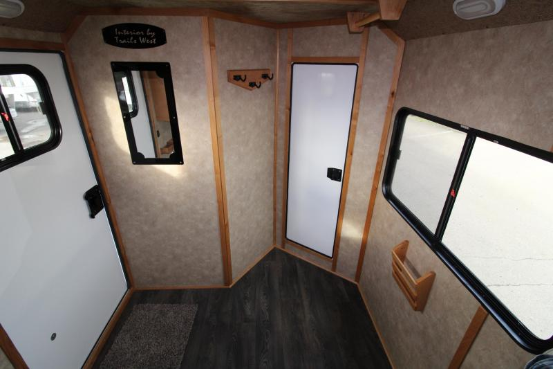 2019 Trails West Classic 3 Horse Comfort Package Trailer - Side Tack