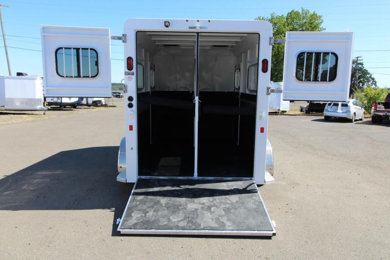 2019 Trails West Royale Plus 2 Horse Straight Load Warmblood Trailer - Steel Frame Aluminum Skin