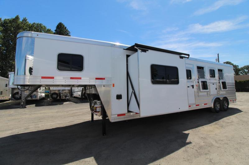 2019 Exiss Endeavor 8410 - 10ft SW Living Quarters 4 Horse Trailer