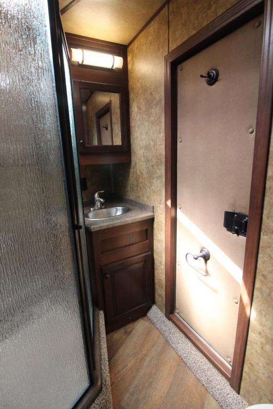 2019 Exiss Endeavor 8410 - 10ft SW Living Quarters 4 Horse Trailer Slide Out Easy Care Flooring Lined & Ins Tons of Upgrades!