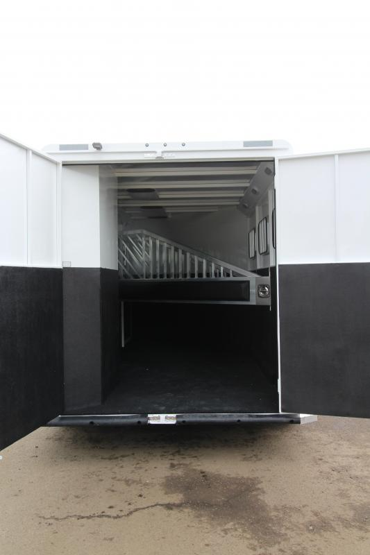 2019 Trails West Classic Horse Trailer- with Broom Closet and Escape Door!