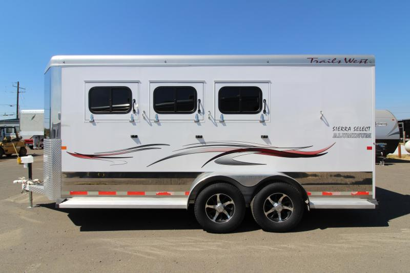 "2014 Trails West Sierra Select 3 Horse Trailer - 7'6"" Tall - Lightly used!"
