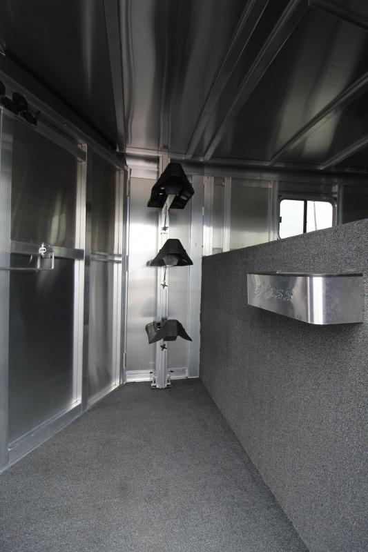 2019 Exiss Express XT 3 Horse Trailer -Champagne - Easy Care Flooring - All Aluminum 7'2