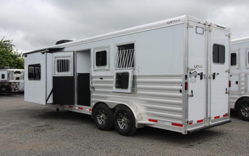 "2019 Exiss Trailers Escape 7310 - 10'6""sw Living Quarters w/ Slide 3 Horse Trailer"
