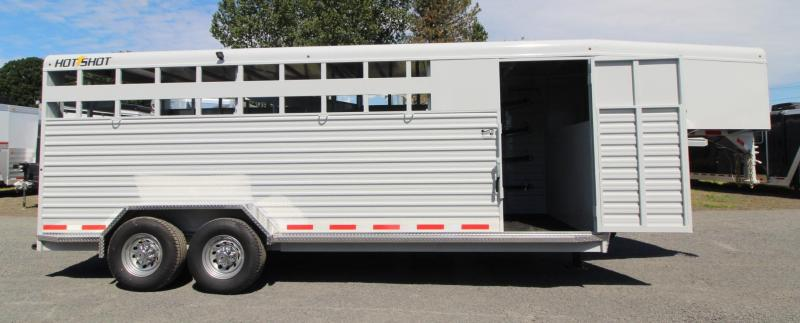 2018 Trails West HotShot 20ft -stock combo Trailer - Swinging Tack Wall in Astoria, OR