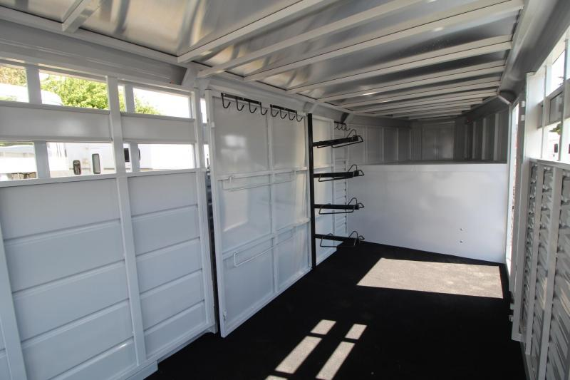 2018 Trails West HotShot 20ft -stock combo Trailer - Swinging Tack Wall