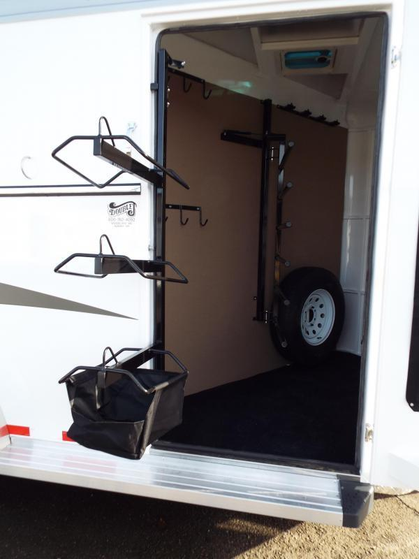 2017 Trails West Sierra Specialite 3 Horse Trailer - Steel Frame Aluminum Skin - Lined and Insulated Horse Area Ceiling-PRICE REDUCED - LOT DAMAGE SEE PHOTOS