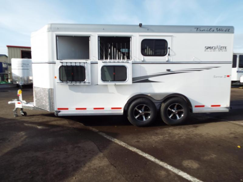 2017 Trails West Sierra Specialite 3 Horse Trailer - Steel Frame Aluminum Skin - Lined and Insulated Horse Area Ceiling-PRICE REDUCED