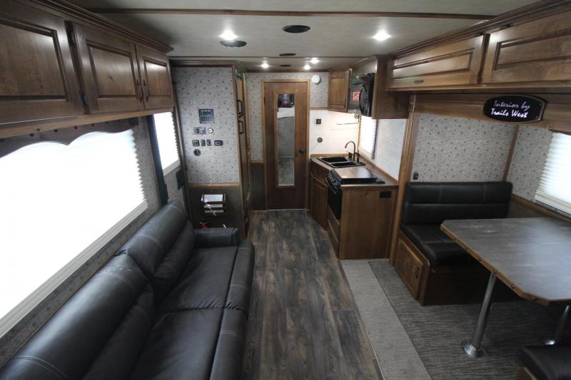 2019 Trails West Sierra 15x19 Living Quarters 3 Horse Trailer