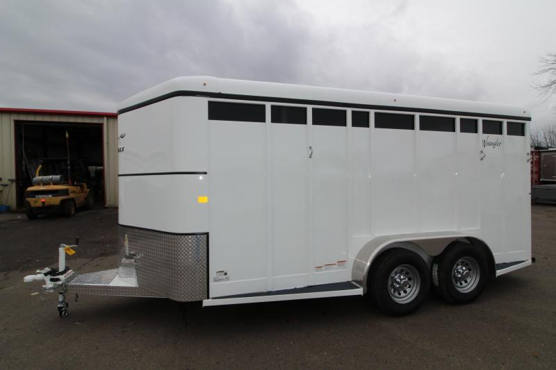 2019 Thuro-Bilt Wrangler Plus 3 Horse Trailer - Fully Enclosed Tack Room - Plexi Glass Inserts - Swing Out Saddle Rack