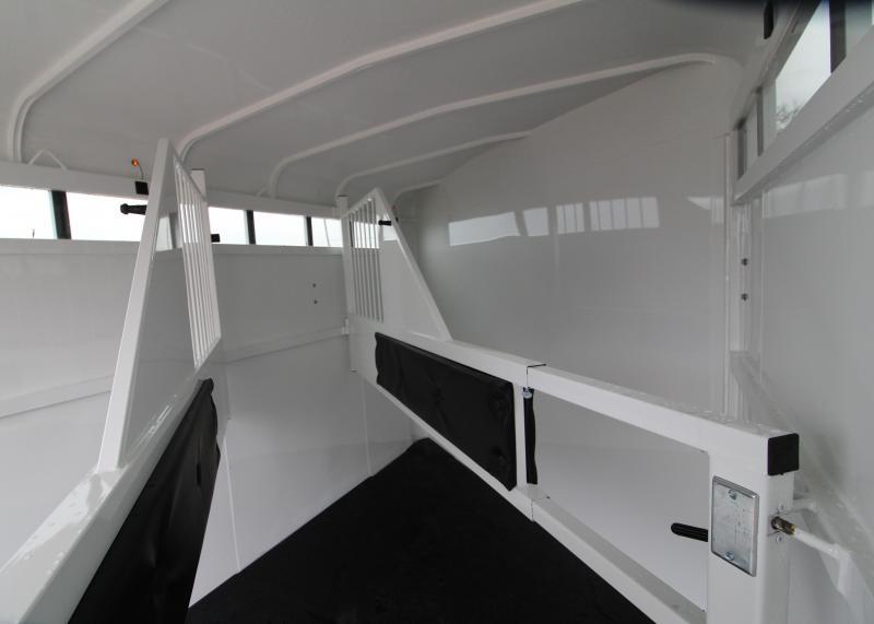 2019 Thuro-Bilt Wrangler Plus 3 Horse Trailer - Fully Enclosed Tack Room - Plexi Glass Inserts - Swing Out Saddle Rack