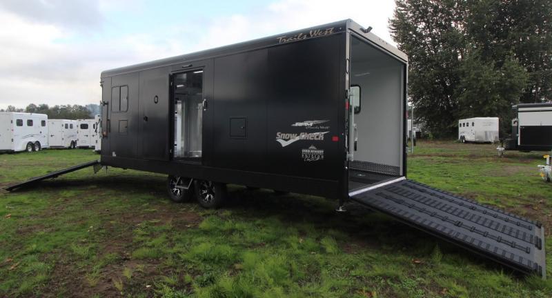 2019 Trails West RPM 28ft Burandt Edition Snow Check Snowmobile Trailer w/ Power rear ramp