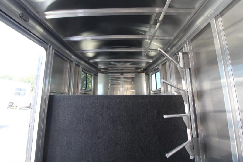 """2020 Featherlite 7541 Horse Trailer 7' Wide 7' Tall 56"""" Dressing Room"""
