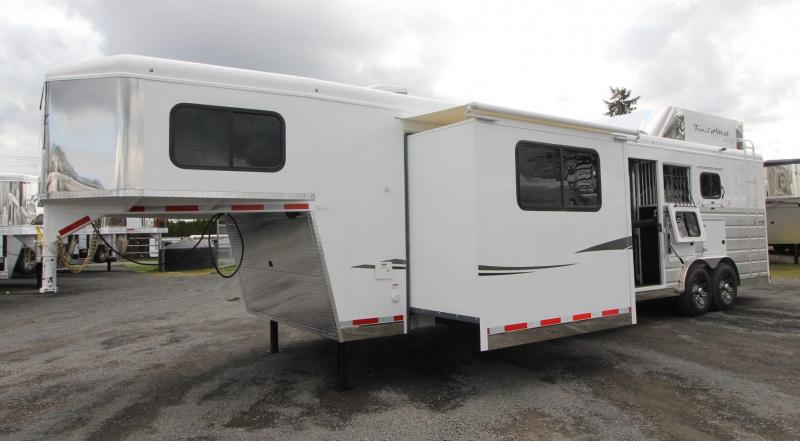 2019 Trails West Sierra 13x13 Living Quarters 3 Horse Trailer w/ Slide Out - Side Tack - *Gen Ready* - Hayrack