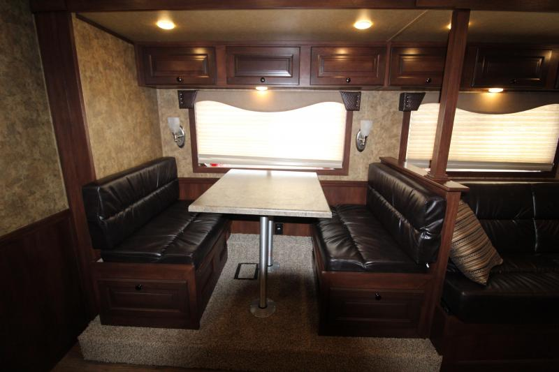 2019 Exiss 8416 - 4 Horse - 16' SW LQ w/ Slide Out All Aluminum Horse Trailer - Dinette and Sofa!