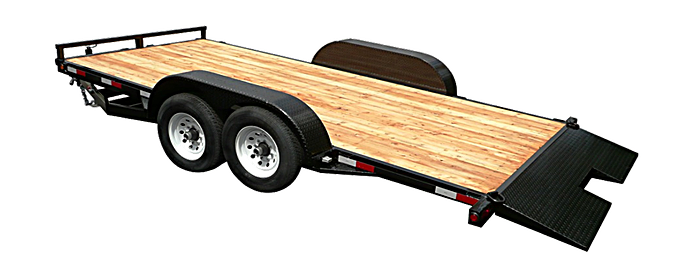 2019 Eagle Trailer 7x20 Tandem Axle 14k Tiltdeck Flatbed Trailer