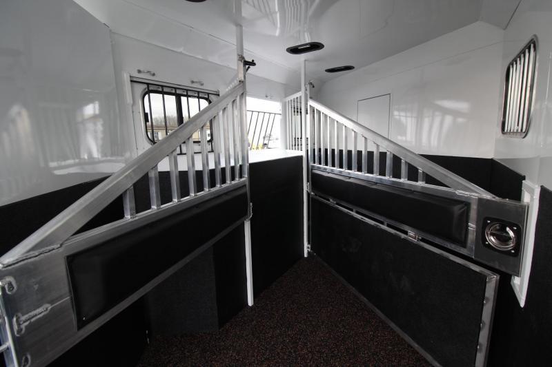 2019 Trails West Sierra 8x13 Living Quarters w/ Slide out 3 Horse Trailer