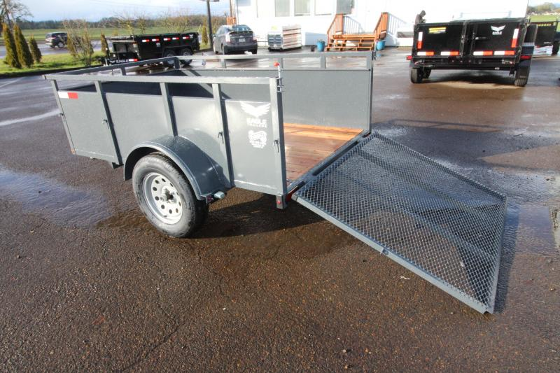 "2019 Eagle 5x8 Falcon Utility Trailer - 800 lb Dry weight -  24"" Solid metal sides - 4' Ramp 1500# - 2x6 Fir decking - Front fender step in Ashburn, VA"